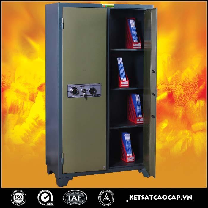đặc điểm sản phẩm Tủ bảo mật cao cấp 2 cánh xanh khóa cơ